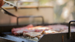 Preparing The Barbecue Dish stock footage
