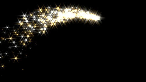 Magic sparkles fairy dust wand particle trail gold Animation