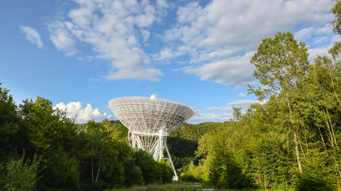 4k UHD huge radio telescope wide zoom time 11492 Footage