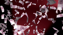 Euro Euros Money Falling Financial Win US Currency Animation
