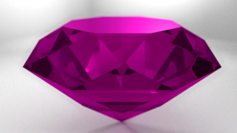 Pink ruby diamond gemstone gem stone spinning wedd Animation