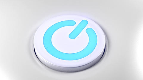 Power button switch turn off blue Animation