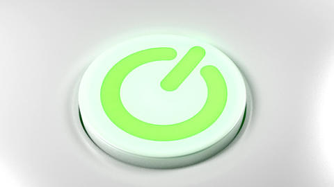 Power button switch turn off green Animation