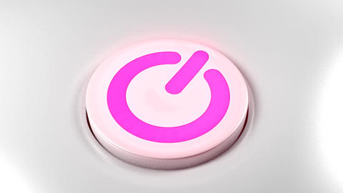 Power button switch turn on pink purple Animation