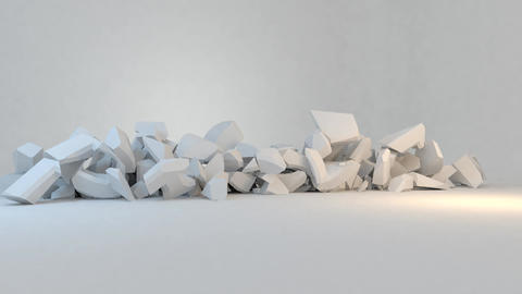 Profit - text smash break explode collapse animati Animation