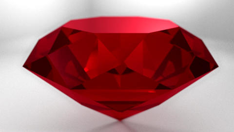 Ruby red gemstone gem stone spinning wedding backg Animation