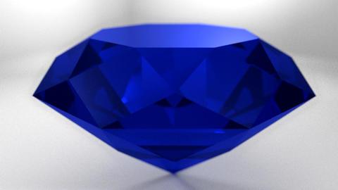 Sapphire blue diamond gemstone gem stone spinning Animation