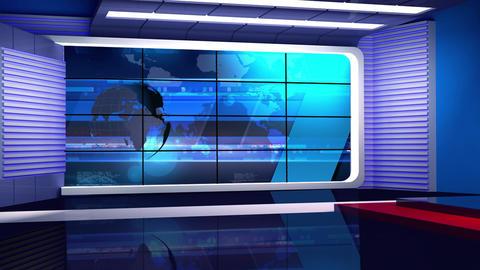 News 35 Virtual Green Screen Background Loop stock footage