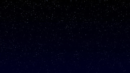Stars twinkle night sky realistic blue horizon loo Animation