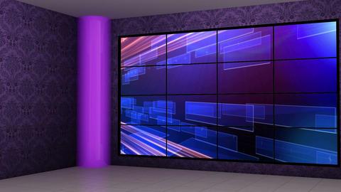 News 16 Virtual Green Screen Background Loop stock footage