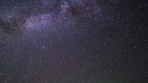 Milky Way disappear with the dawn. Pamir, Tajikist Live Action
