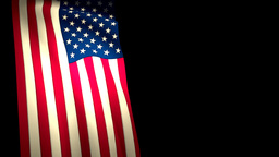 USA US Flag Vertical Closeup Waving CG Animation