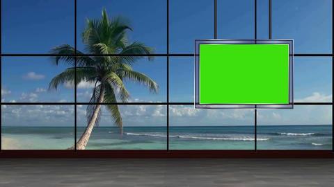 News 33 Virtual Green Screen Background Loop stock footage