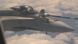 HD2009-6-3-12 aerial F18s refuel Stock Video Footage
