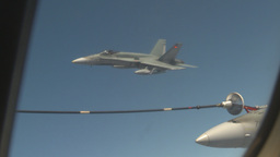 HD2009-6-3-16 aerial F18s refuel Stock Video Footage