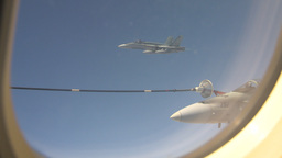 HD2009-6-3-18 aerial F18s refuel Footage