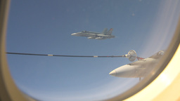 HD2009-6-3-18 aerial F18s refuel Stock Video Footage