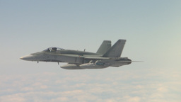 HD2009-6-3-20 aerial F18s Stock Video Footage