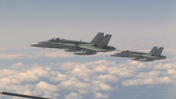 HD2009-6-3-22 aerial F18s Stock Video Footage