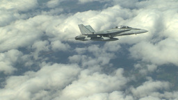 HD2009-6-3-25 aerial F18s Stock Video Footage