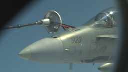 HD2009-6-3-27 aerial F18s refuel Stock Video Footage
