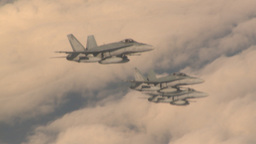 HD2009-6-4-4 Aerial F18 x3 formation Footage