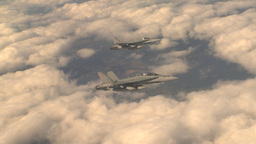 HD2009-6-4-6 Aerial F18 x2 formation Stock Video Footage