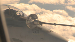 HD2009-6-4-10 Aerial fuel drogue and F18 Stock Video Footage