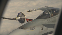 HD2009-6-4-20 Aerial F18 refuel Stock Video Footage