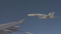 HD2009-6-4-22 Aerial F18 peel off Stock Video Footage