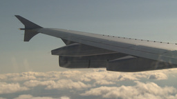 HD2009-6-4-24 Aerial A310 wing Stock Video Footage