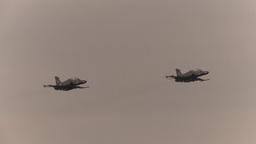 HD2009-6-6-3 Alphajet fly x2 Stock Video Footage
