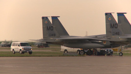 HD2009-6-6-5 apron F15s idle F18 in bg Stock Video Footage