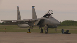 HD2009-6-6-11 apron F15 Stock Video Footage