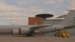 HD2009-6-6-13 apron RAF E3A Stock Video Footage
