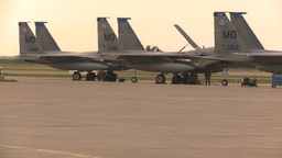 HD2009-6-6-19 apron F15 line Stock Video Footage