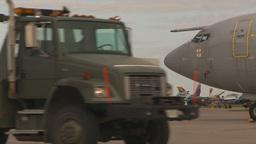 HD2009-6-6-21 apron alpha jet F16s RAF E3a Stock Video Footage