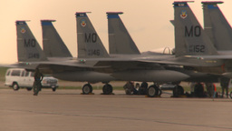 HD2009-6-6-23 apron F15 line Stock Video Footage