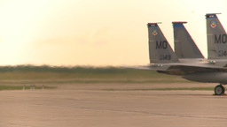 HD2009-6-6-27 apron F15 line heat Stock Video Footage