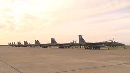 HD2009-6-6-29 apron F15 line Stock Video Footage