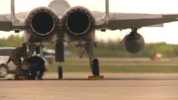 HD2009-6-6-41 F15 rear view flaps move engine shrink... Stock Video Footage