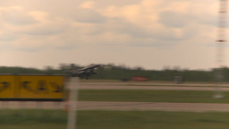 HD2009-6-6-65 F16 takeoff Stock Video Footage