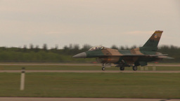 HD2009-6-6-71 F16 aggressor taxi Stock Video Footage
