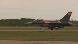 HD2009-6-6-71 F16 aggressor taxi Footage