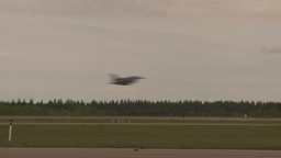 HD2009-6-6-77 F16 takeoff through frame Stock Video Footage