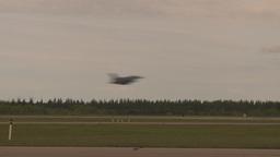 HD2009-6-6-77 F16 takeoff through frame Stock Video Footage