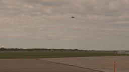 HD2009-6-6-79 F16 takeoff through frame Stock Video Footage