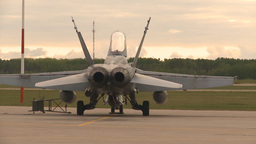 HD2009-6-6-81 apron F18 rear view Stock Video Footage