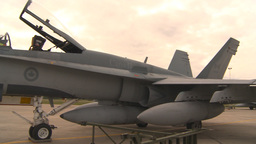HD2009-6-6-83 apron F18 Stock Video Footage