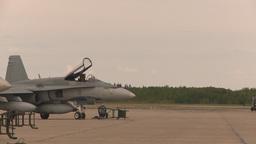 HD2009-6-7-1 F15 takeoff line F18s Stock Video Footage